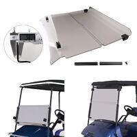 Foldable Acrylic Smoke Windshield Windscreen For 1994-2013 EZGO TXT Golf Cart