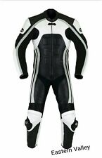 Men's Classic Motorcycle CE Approved Racing Biker 100%Cowhide Leather Suit