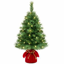 bcp 26in pre lit tabletop christmas tree w 35 warm white lights green