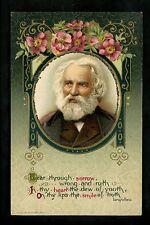 Author / Poet Quotes Sayings postcard John Winsch Circa 1910 Longfellow Vintage