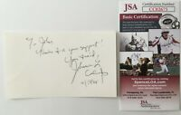 Johnnie Cochran Signed Autographed 3x5 Card JSA Certified O.J. Simpson Trial