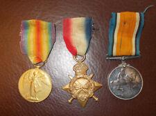 Military WW1 14-15 Star Trio Medal Group   original