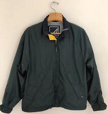 SPERRY Top-Sider Men's Windbreaker Jacket Size M Green Boating Vented Full Zip