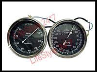 Smith Replica Speedo 0-150 MPH + Tacho RPM Meter Pair For BSA, Vincent, Ariel