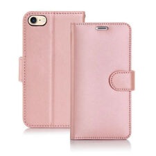 Rose Gold Colour  Leather Wallet Flip Cover Stand Case for Apple iPhone 4 4S