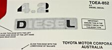 TOYOTA LANDCRUISER 4.2 DIESEL DECAL 70 78 79 SERIES TROOPY NEW GENUINE