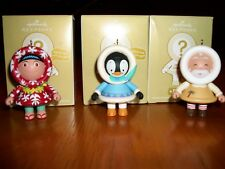 NEW Hallmark 2011 Mystery Ornament Set Aloha Frosty Polar Penguin Toymaker Santa