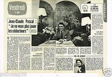 Coupure de presse Clipping 1976 (2 pages) Jean Claude Pascal