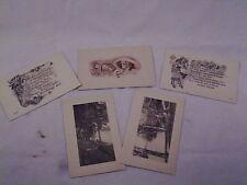 Vintage post cards 5 unused landscape postage 1 cent  #39