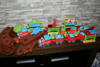 MASSIVE 42 Piece Happy Land ELC Train Set - 2 Trains - Early Learning Centre