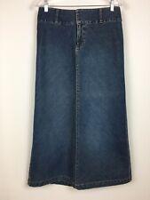 Old Navy Womens 6 Long Maxi Denim Skirt Pencil Modest 100% Cotton Blue