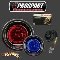Prosport EVO Digital AFR Gauge WIDEBAND W/BOSCH LSU4.9 SENSOR BLUE RED 52mm