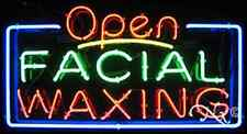 """New """"Open Facial Waxing"""" 37x20 Real Neon Sign W/Custom Options 15403"""