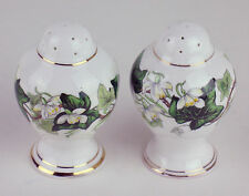 SALT / PEPPER SHAKERS Vintage Royal Albert IVY LEA green vines Bulb Shape