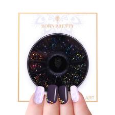 BORN PRETTY Chameleon Nail Rhinestones Flat Black 3D Nail Art Decoration in Box