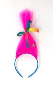 Troll Poppy Headband Hairband Pink Troll Hair Dress Up