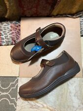 NWOB DREW Mary Jane - ROSE - Brown Leather Shoes Women's Sz 7.5 W MSRP
