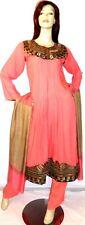 Shalwar kameez eid pakistani designer salwar sari abaya hijab peach suit uk 8