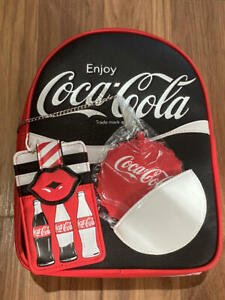 Loungefly  Coca Cola  Faux Leather Backpack & Card Holder  NEW