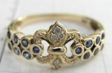 Ring Sapphire Yellow Gold Vintage & Antique Jewellery