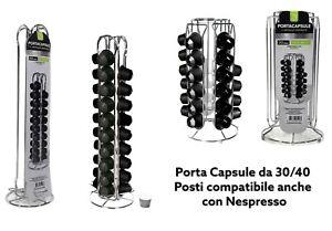STAND PORTA CAPSULE CAFFE' 30 40 POSTI COMPATIBILE NESPRESSO IN METALLO
