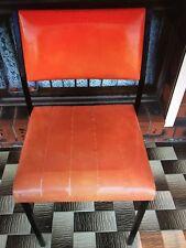 Orange Vinyl Vintage Chair/s