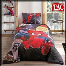Spiderman In The City Quilted Complete Duvet Cover Set Twin Size