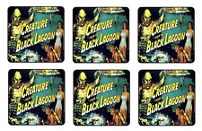 CREATURE FROM BLACK LAGOON COASTERS BAR & BEER SET OF 6