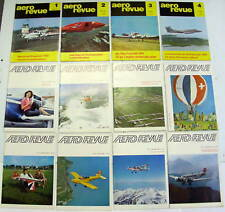 1969 AERO REVUE MAGAZINE COMPLETE SET 0F 12 aeroplanes airplanes aircraft flying