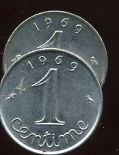 FRANCE FRANCIA  1 CENTIME INOX 1969 queue longue   ( bis )