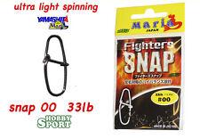 YAMASHITA ULTRA LIGHT SPINNING SNAP 00 33 LB FIGHTER SNAP