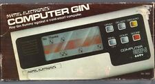 COMPUTER GIN RUMMY vtg 1979 handheld game Mattel Electronics LCD with box