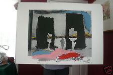 ISRAELI ARTIST~MENASHE KADISHMAN~ Artist Between Two Cutout Trees