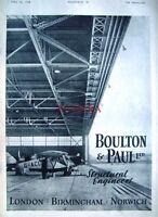 1944 'BOULTON & PAUL' WW2 Aircraft Engineers Advert - Original Wartime Print Ad