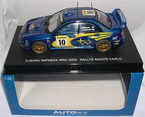 Autoart 13002 Subaru Impreza WRC #10 Rally Monte Carlo 2002 Mäkinen-lindström MB