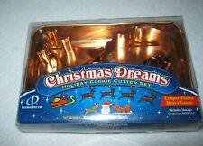 Global Décor -Copper Plated Cookie Cutter Set - Reindeer, Santa & Sleigh - New