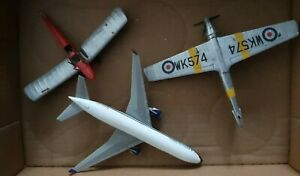 JOB LOT MODEL 3 AIRCRAFT FOR SPARES RESTORATION WWII one - metal Delta Air Lines