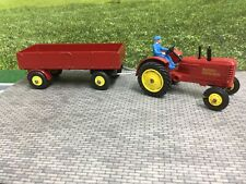 Dinky Massey Ferguson Tractor and LargeTrailer (repaint)