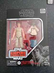 Star Wars The Black Series Luke Skywalker & Yoda Jedi Training 6 Inch Figure