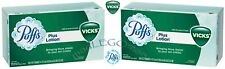 6 BOX PUFFS VICKS SCENT PLUS LOTION 2 PLY FACIAL TISSUE FAMILY SIZE 88 SHEET/BOX