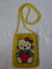 HELLO KITTY yellow beaded cross body bag BRAND NEW Very Cute