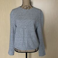 Aritzia Wilfred Sweater Pullover Grey Size L Large Fabric Made Italy