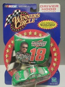 NIB 2001 WINNER CIRCLE BOBBY LABONTE #18 W/RACE HOOD & 1/64 DIE CAST W/WEAR