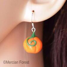 Pumpkin Earrings - Pagan, Wicca, Witch, Samhain, Halloween, Clay, Autumn, Fall
