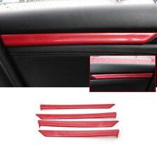 Fits Honda CIVIC 4Door 2016 2017 Carbon Fiber Red ABS Inner Door Trim Stripe
