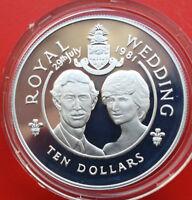 Cayman Islands: 10 Dollars 1981 Silber, KM# 68a, PP-Proof, #F 1231, Wedding