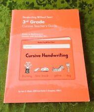 Handwriting Without Tears 3rd Grade Cursive Teacher's Guide Home School Third Gr
