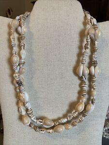"Vintage Natural Shell Strand 20"" Necklace"