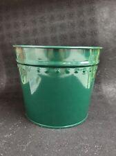 "New Dover M504Fg Green Medium Metal Flower Misc. Tub Can Pail 8.5"" X 7"""