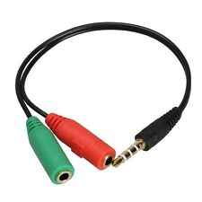 3.5mm Male to 2 Dual Female Jack Audio Stereo Headset earphone Splitter Cable